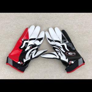 Nike Vapor Jet Georgia Receiver Football Gloves XL